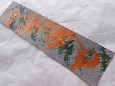 Against the Wind - Original Mixed Media Abstract Art Bookmark – Pantone Inks & Acrylic Paints