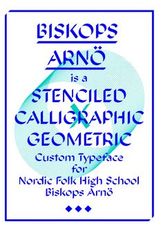 Biskop Arnö typeface designed by Sueh Li