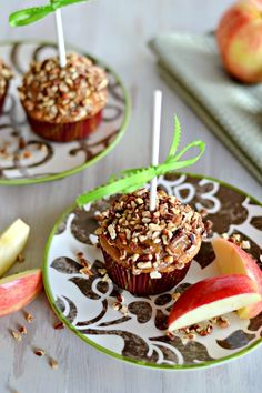 Caramel Apple Cupcakes  It's like a caramel apple--without the sticky mess!
