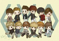 so cute i like the unicorn ^^ Yixing Exo, Kyungsoo, Chanyeol, Cartoon Fan, Cartoon Pics, Fallout 3, Chibi Exo, Super Junior, Sherlock