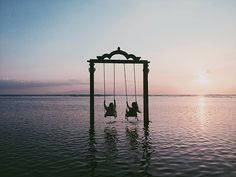 The Gili Islands- probably the world's most famous swing