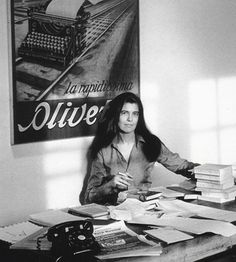 Susan Sontag, writer and filmmaker. | 40 Inspiring Workspaces Of The Famously Creative (from Buzzfeed)