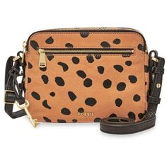 Fossil Cheetah Piper Toaster Bag ($158) ❤ liked on Polyvore featuring bags, cheetah, red bag, cheetah print bag, cheetah bag, zipper bag and zip bag