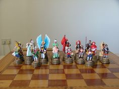 Great Siege of Malta 1565 A.D. Chessmen,designed and cast in Pewter, hand painted by Joseph and Christine Debono.In our studio in Malta.
