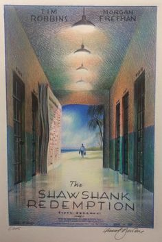 'The Shawshank Redemption' poster concept by Laurent Durieux Laurent Durieux, 1990s Films, Tim Robbins, The Shawshank Redemption, Fan Poster, Pop Culture Art, Beautiful Posters, Maybe One Day, Original Music