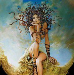 Medusa.   Art by Karol Bąk