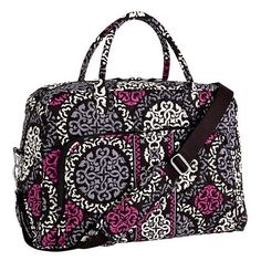 Vera Bradley WEEKENDER Travel Bag ~ CANTERBERRY MAGENTA ~ *New/NWT Luggage #VeraBradley