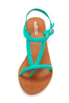 Teal sandals #teal #sandals #shoes #cute Teal Sandals, Cute Sandals, Shoes Sandals, Cute Shoes, Me Too Shoes, Shoe Boots, Teal Shoes, Flip Flop Sandals, Turquoise Shoes