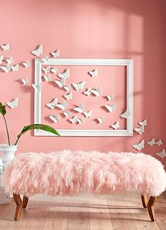 Looking for inspiration to decorate your daughter's room? Check out these Adorable, creative and fun girls' bedroom ideas. room decoration, a baby girl room decor, 5 yr old girl room decor. Butterfly Wall Decor, Butterfly Decorations, Wall Decorations, Butterfly Bedroom, Butterfly Background, Diy Decoration, Wedding Decoration, Girl Room, Girls Bedroom