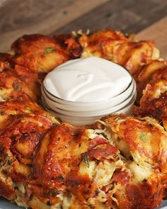Chicken Alfredo Garlic Knot Ring