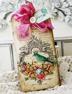 Antique envelopes Tag from Lilybean's paperie