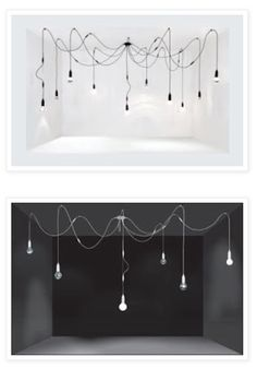 Lámparas De Araña Fabricada Con Cables De Tela Y Con Bombillas Vintage  EDISON Todo Lo Necesario