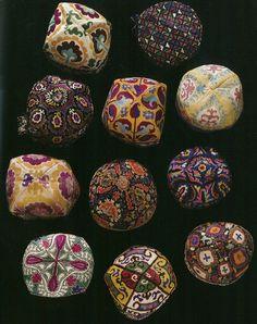 thetypologist:    Duppi caps, Uzbekistan.
