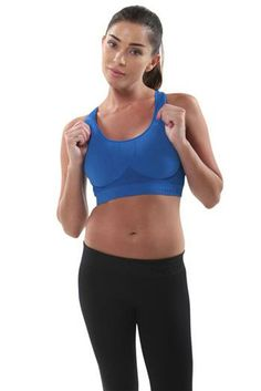 Seamless Micro Electric Blue Yoga Sports Bra by Electric Yoga. Pinned by Karmic Fit | #yoga #yogabras #yogabra #sportsbras #sportsbra #activewear #pilates