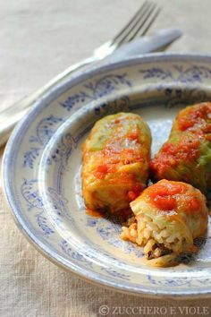 Involtini turchi Viole, Vegetarian Cooking, Polenta, Meat, Chicken, Photos, Vegetarian, Culture, Vegetarian Food