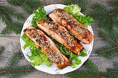 Łosoś w marynacie sojowej z sezamem | – Dietetyczne przepisy – Hot Dog Buns, Hot Dogs, Ethnic Recipes