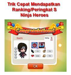 Tutorial Android Indonesia: Trik Cara Cepat Dapat Rangking S Ninja Heroes (Per...