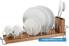 DrainFOREST Bamboo Dish Rack