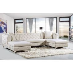 Fabulous 999 00 Huxton Fabric Sectional Sofa And Ottoman Home Caraccident5 Cool Chair Designs And Ideas Caraccident5Info