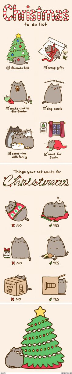 Pusheen the cat - Christmas special   //   FOXINTHEPINE.COM