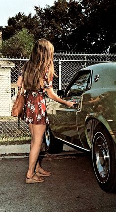This could of been me, getting into a friends Mustang!