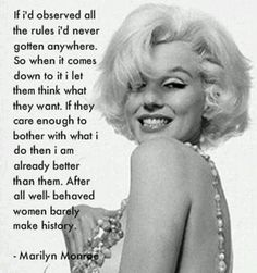 Independent Woman!! Marilyn Monroe