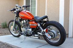 Bobbed Honda Rebel - I like the light and plate position