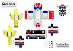 Blog Paper Toy papertoy Goldorak Tjaizue template preview Goldorak de Tonchat Jaizue