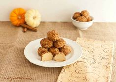 No Bake Pumpkin Cheesecake Bites are grain free, low carb, keto pumpkin cheesecake balls rolled in a cinnamon pecan coating. So much yum here.