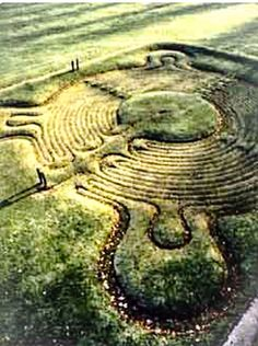 JOJO POST LABYRINTH: England, ca 1699. Town of Saffron Walden, The most famous and one of the best preserved ancient turf mazes in the UK.
