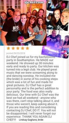 Bachelorette Party Ideas Long Island Ny Wedding Dj Chef New Jersey Connecticut Westchester Poconos Cooking Cl