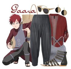 || Gaara ~ Naruto || by freezespell on Polyvore featuring polyvore fashion style MINKPINK Pleats Please by Issey Miyake Target Michael Kors clothing