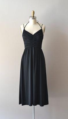 vintage 70s dress / black 1970s dress / Heart of by DearGolden, $74.00