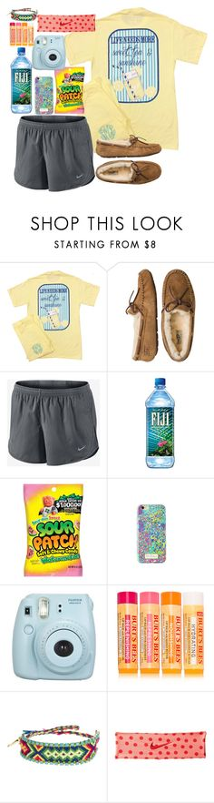 """sick day"" by emilyw01 ❤ liked on Polyvore featuring UGG Australia, NIKE, Lilly Pulitzer, Fujifilm, Burt's Bees and Kim & Zozi"