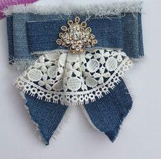 Ribbon Jewelry, Fabric Jewelry, Fancy Bows, Barrettes, Ribbon Work, Ribbon Crafts, Diy Clothing, Refashion, Fabric Flowers