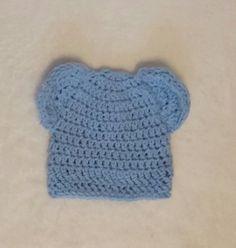 $12.00 Ready to Ship Blue Newborn Baby Bear Hat 12 by KristisKraftyKnook