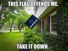 This flag offends me. Take it down. #cowboys #nfl