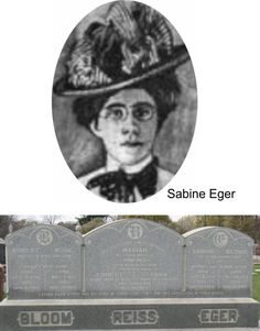The Iroquois fire took the lives of three sisters and two of their children.  Sabine Eger age 27 Rose Eger Bloom age 32 Marian Eger Reiss age 35 Ernest Reiss age 11 Erna Reiss age 10