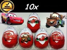 10 of DISNEY CARS Chocolate egg + surprise  Just like kinder surprise