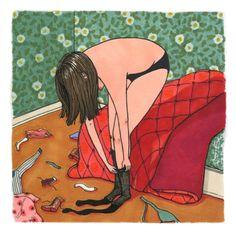 Ilustraciones de lo que hacen las mujeres cuando nadie las ve | The Creators Project