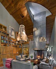 salones rusticos combinacion estilo contemporaneo ideas