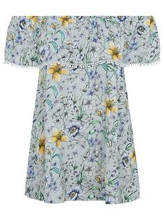 Floral Bardot Top, read reviews and buy online at George at ASDA. Shop from our latest range in Women. It's never been so easy to keep cool and look fantasti... Bardot Top, Asda, Latest Fashion For Women, New Outfits, Short Sleeve Dresses, Ditsy, Summer Dresses, Clothes For Women, Poppy