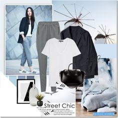 Street Chic Minimalist by rainie-minnie on Polyvore featuring Mode, rag & bone/JEAN, Vero Moda, adidas Originals, Givenchy, Sur La Table, CB2 and adidas