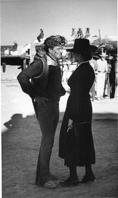 "John ""Duke"" Wayne with first daughter Toni on the set of, 'The Alamo', Classic Movie Stars, Classic Movies, Wayne Family, John Wayne Movies, Actor John, First Daughter, Western Movies, Family Affair, Old Hollywood"