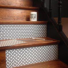 #dominotez Contremarches escalier #adhesifs #diy #decoration