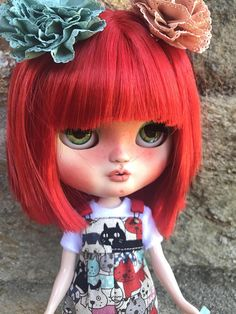 Icy Doll. Custom Doll. Personalized Redhead doll on offer