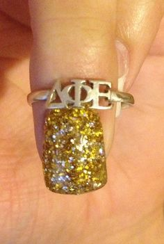 Dphie :) Found our Delta Phi Epsilon ring!