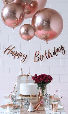 15 best rose gold party decorations images balloons birthday rh pinterest com