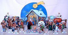 Betlém+Daniela+Ladmana+Krásný+vánoční+betlém+Josefa+Ladmana+tvoří+30+samostatně+stojících+figurek.+Každá+figurka+je+zajíštěna+špalíčkem,+aby+stála+a+měla+stabilitu+viz.+foto.Betlém+je+vyřezanýz+ušlechtilé,+světlé+a+lehké+topolové+překližky.