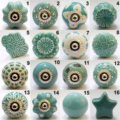 Lot de 8 boutons/céramique porte boutons Brake peint boutons boutons…